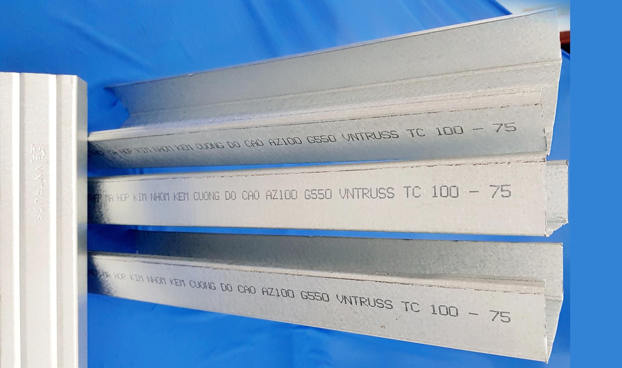 Xà gồ thép cường độ cao siêu nhẹ và chống rỉ TC100.100