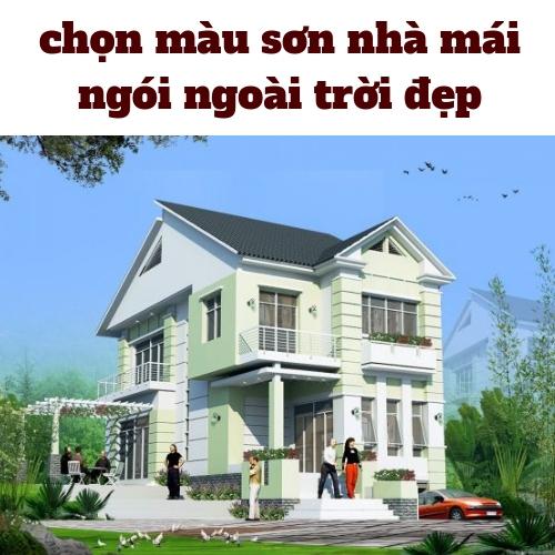 màu sơn nhà mái ngói