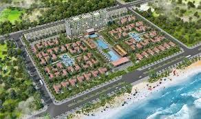 Kết cấu khung kèo thép nhẹ Vntruss 2 lớp và ngói thái Resort Rosa Alba sát biển Tuy Hòa