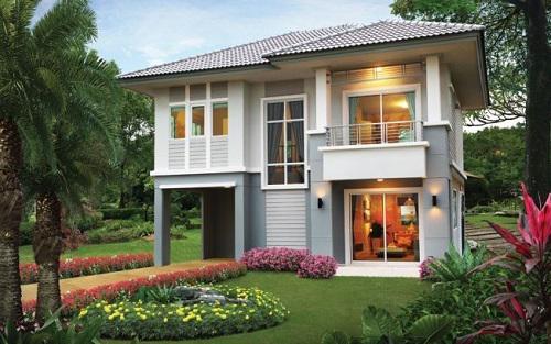 Nếu diện tích cho phép hãy thiết kế một khoảng sân vườn ngay trước nhà, vừa để trồng cây lại tăng thêm vẻ đẹp cho căn nhà.