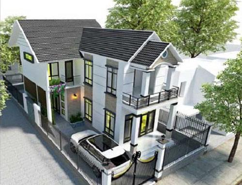 Nhà 2 tầng mái ngói đáp ứng nhiều công năng sử dụng mà lại mang giá trị thẩm mỹ cao.