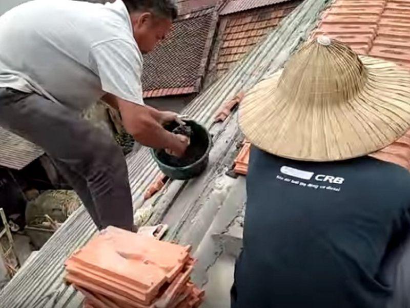 thi công mái dán bê tông