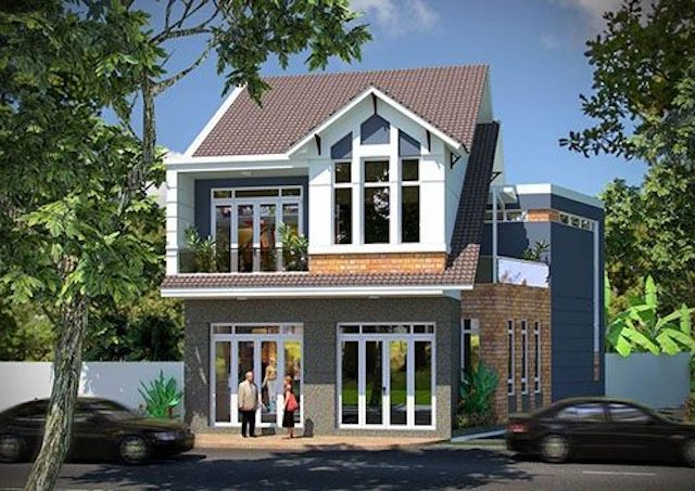 Những mẫu thiết kế nhà có độ dốc mái đẹp