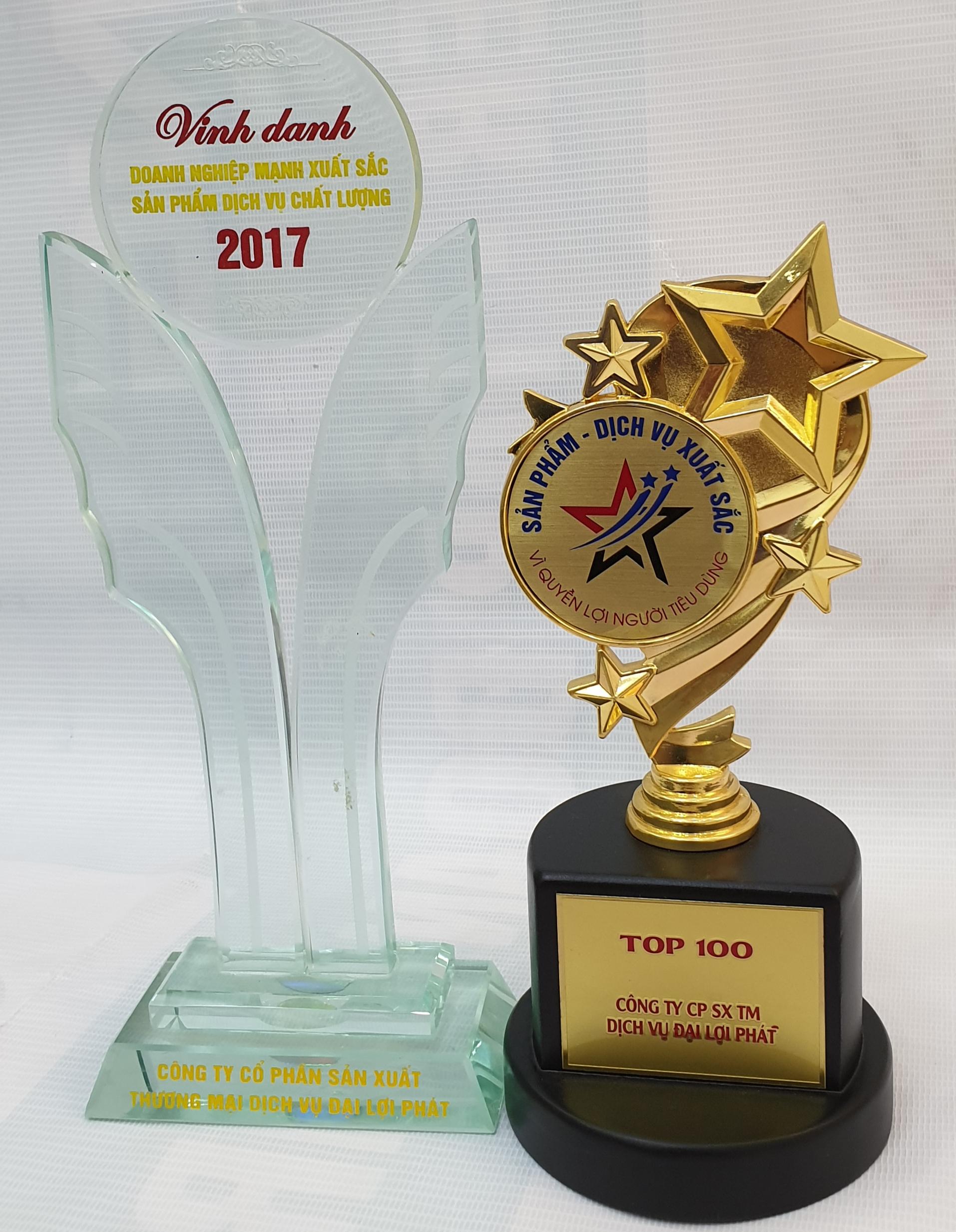 Những giải thưởng mà công ty Đại Lợi Phát (khung kèo Vntruss) đã đạt được