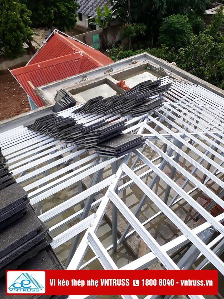 Công ty Đại Lợi Phát thi công mái nhà biệt thự vườn ở Kon Tum và Gia Lai