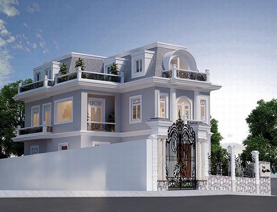 Biệt thự kiến trúc phong cách cổ điển của Pháp đẹp