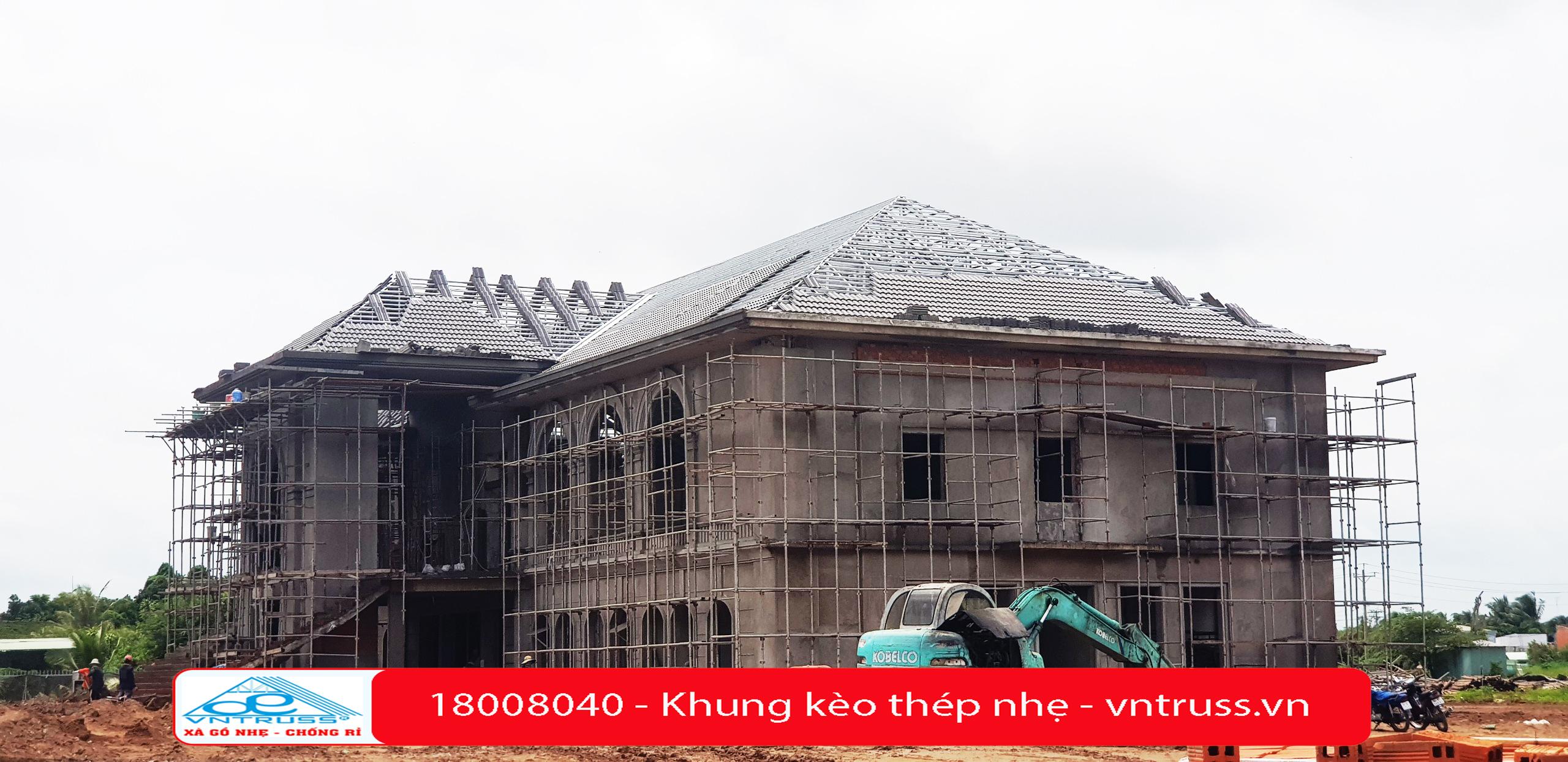 Đại Lợi Phát thi công Trạm dừng Chân Thành Đô - Vĩnh Long