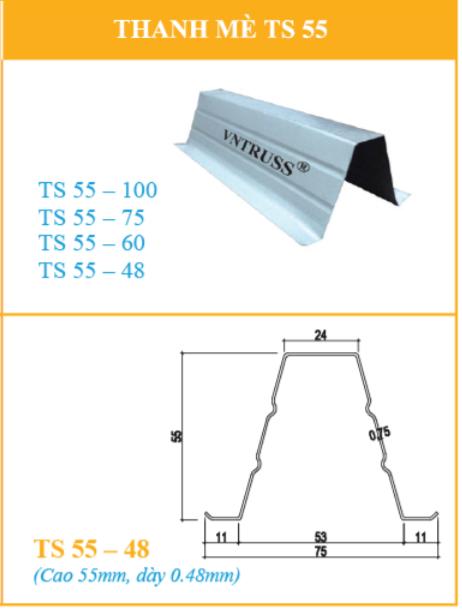 Cầu Phong TS54.75 thép mạ nhôm kẽm cường độ cao