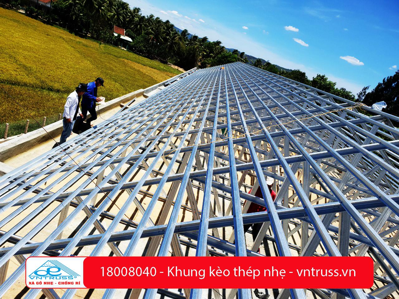 Trường Tam Quan Bắc Hoài Nhơn Bình Định Dùng Thép Mạ Hợp Kim Nhôm Kẽm VNTRUSS