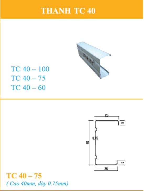 Mua cầu phong TC4075 thép siêu nhẹ VNTRUSS