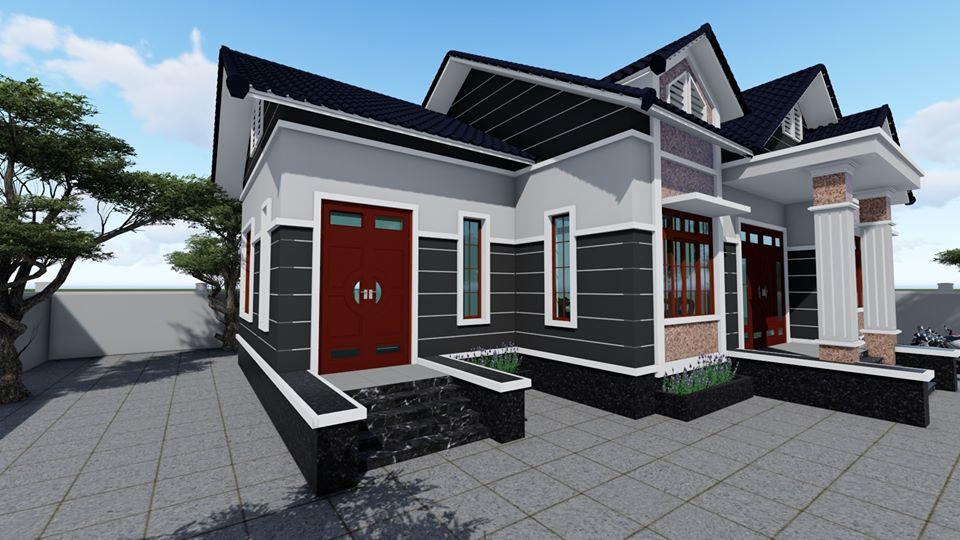 Ngói màu đen giúp ngôi nhà trở nên sang trọng hơn