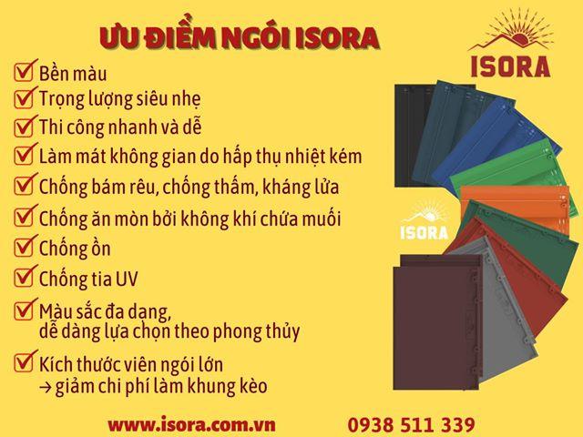Giá ngói màu ISORA năm 2021