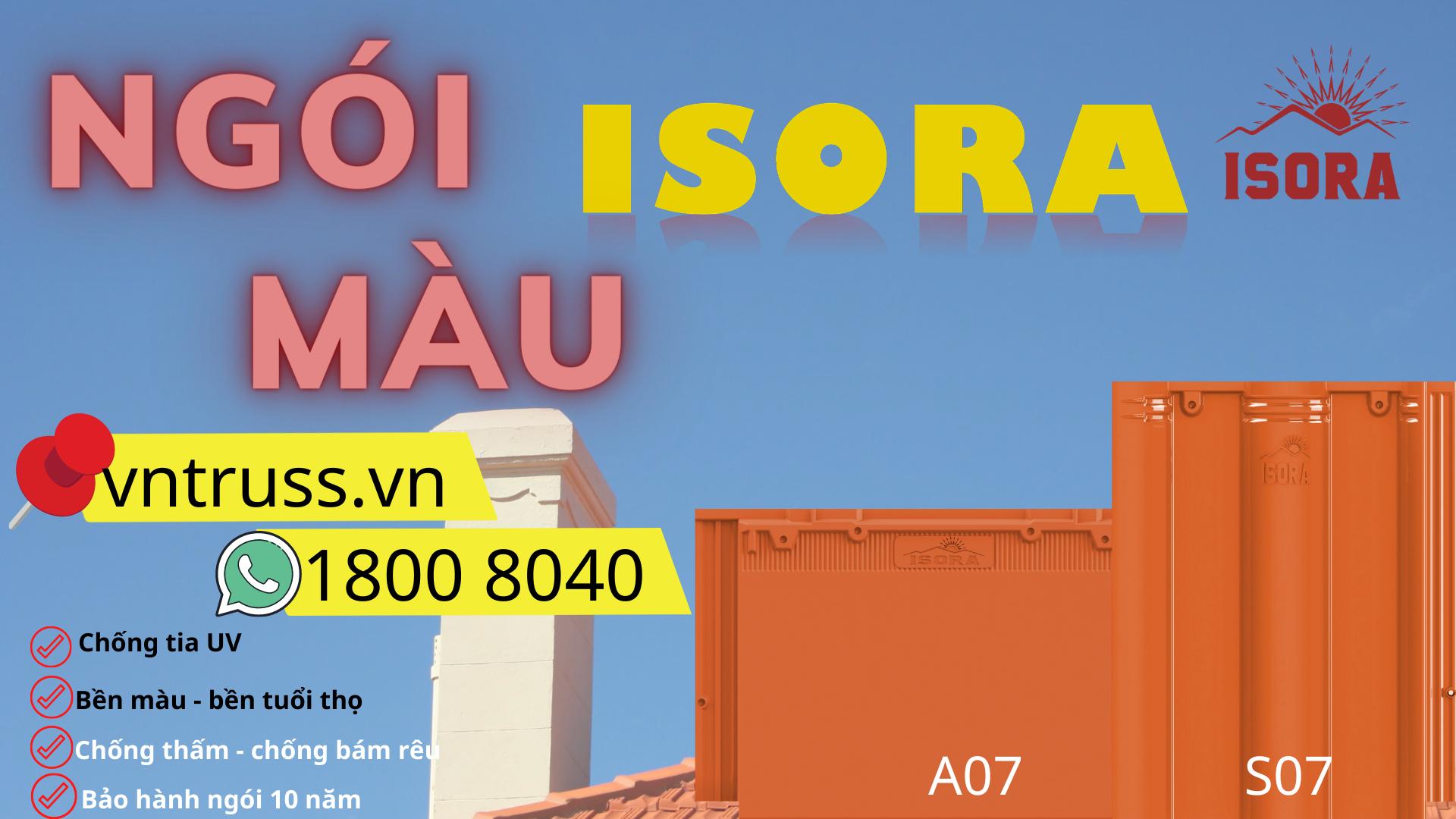 Thay ngói truyền thống bằng Ngói ISORA màu cam